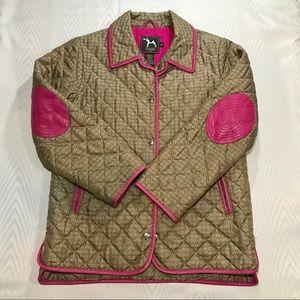 Girls Coach Jacket Kids XL Logo Pink Tan Youth